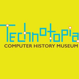 Logo for Technotopia Computer History Museum, based on the Computer History Museum in Silicon Valley.