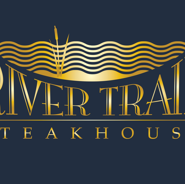 Logo for River Trail Steakhouse, a fictional steakhouse.