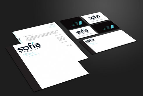 An example of my personal branding, including stationery, business cards, and envelopes.