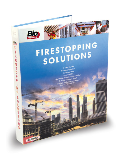The front of the Firestopping Solutions binder.
