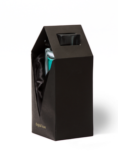 The Digital Love cologne bottle and packaging at a 3/4 angle.