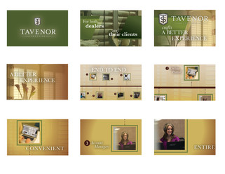 Storyboards for Tavenor Shutters.