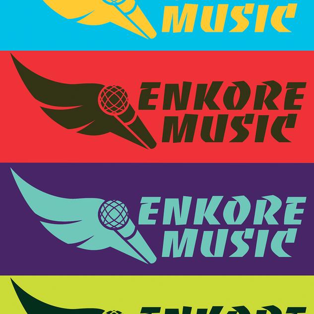 Logo for Enkore Music, a nonprofit children's music program in Austin.