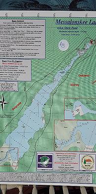 Messalonskee Lake Map