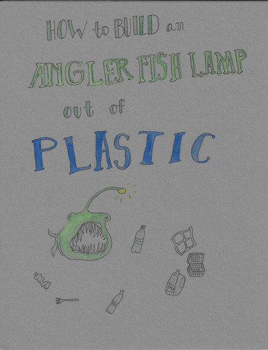 How to build an angler fish lamp out of plastic