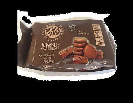 Biscoito Integral de Chocolate-Mundo Grano