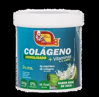 Colágeno Hidrolisado + vitaminas A, C e Zinco (sabor água de coco) – 500g