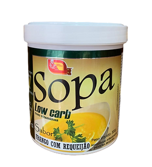 Sopa Low Carb Sabor Frango Com Requeijão