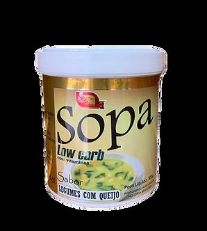 Sopa Low Carb Sabor Legumes Com Queijo