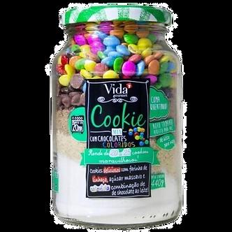 Cookie Mix Chocolates Coloridos - Vida Gourmet 440g