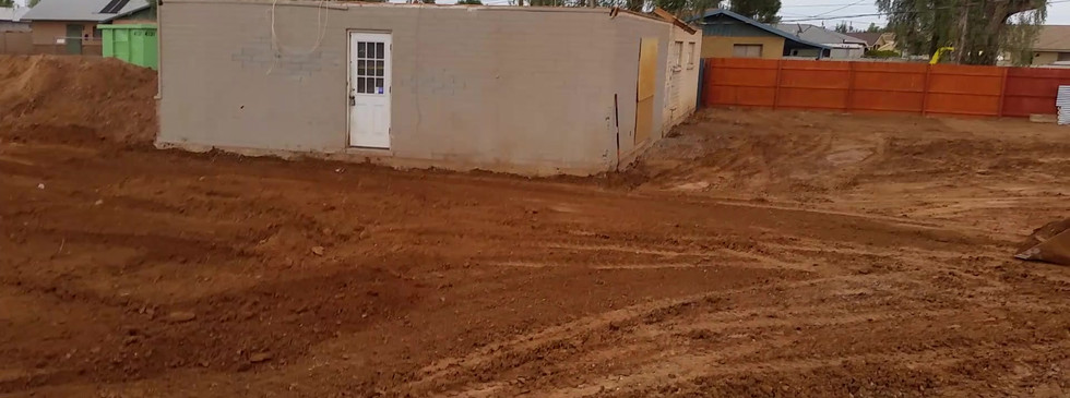 Grading around a house pad in Chandler