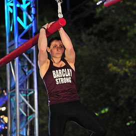 Sparkly Barclay Stockett ninja warrior athlete coach kids niclasses, adult ninja classes, and ninja birthday parties.