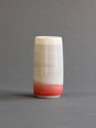 Bud Vase - Coral & Grey
