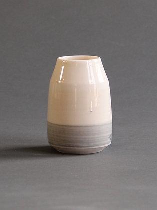 Bud Vase : Peach & Grey