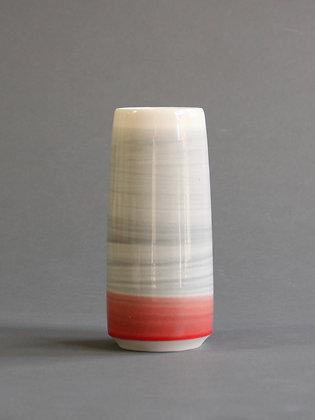Small Vase : Coral & Grey