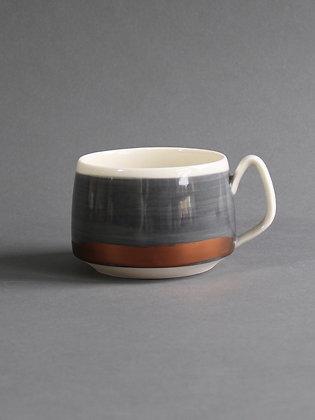 12 oz Short Mug - Black & White & Copper