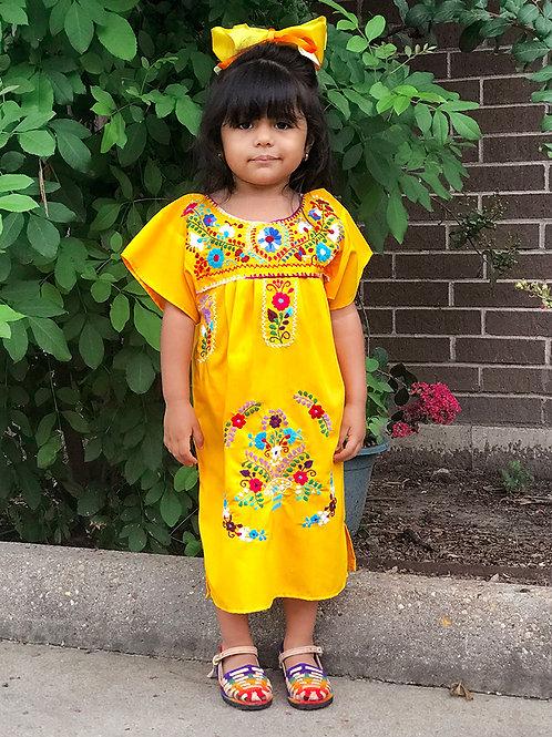 Vestido Mexicano bordado a mano