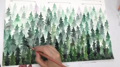 Forest watercolor ketubah