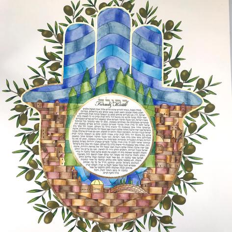 Jerusalem stained-glass