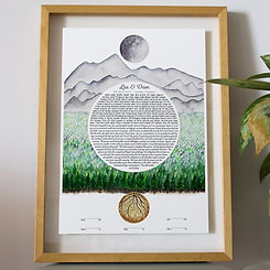 Roots forest mountain ketubah 1