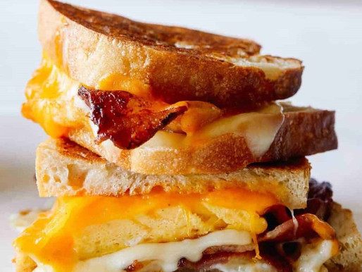 Extra Cheesy Breakfast Grilled Cheese