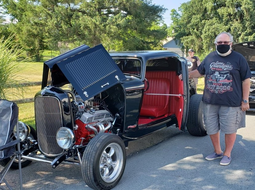 James Campo stands near his 32 Ford model 18 hot rod. Lifestyles photo by Katie Collins.