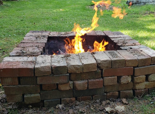 Hard work leads to a fire pit