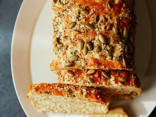 Cheesy Herb Beer Bread