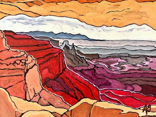 "11""X14"" ""Mesa Arch"" fine textured art paper print"
