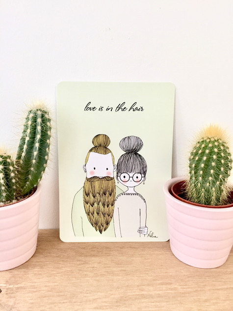 "Cartes postales "" Love is in the Hair"""