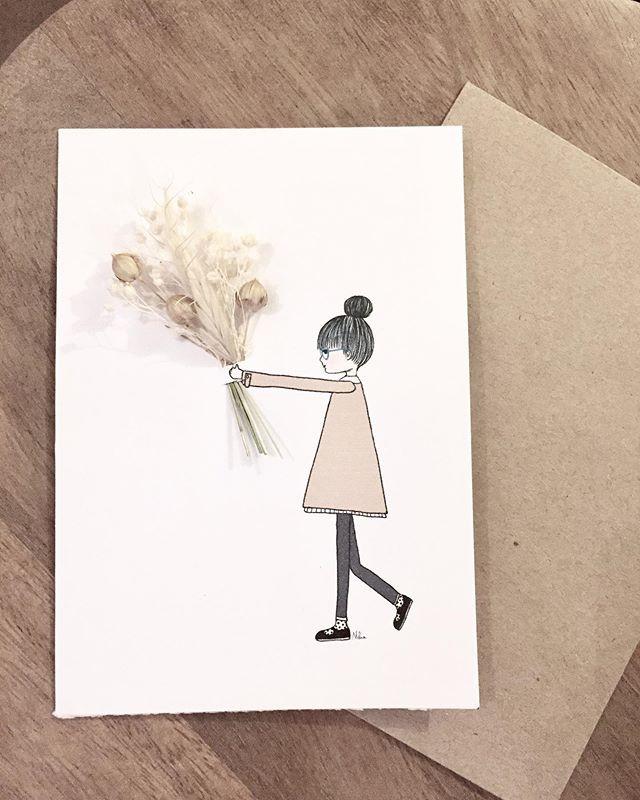 La collection de cartes fleuries en coll