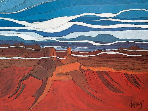 """Memory of Castleton at Dusk""Textured fine art paper Giclee print"