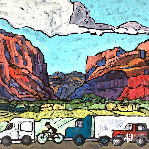 """10"""" X 10"""" ORIGINAL """"Welcome to Moab"""", 2020"""