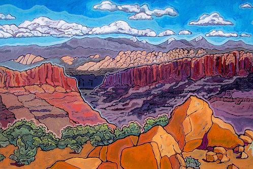 "12"" X24"" ""Longs Canyon from Maverick Buttress""  fine art paper print"