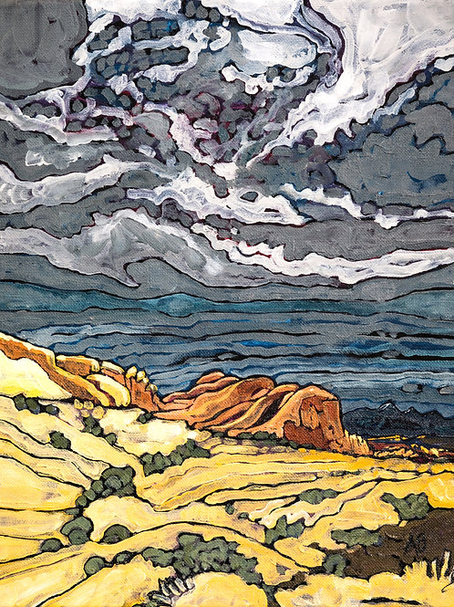 """11""""X14"""" ORIGINAL """"View from the Top of Dave's"""", 2020"""