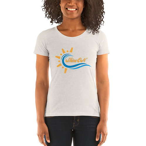 Shine On Logo Ladies Tee