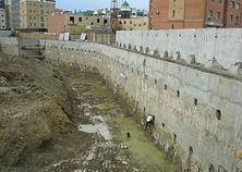 уб, погружение шпунта, стена в грунте, ограждение котлована, jet grouting, грунтоцементные сваи, струйная цементация, мосспецстрой, Ограждение котлова