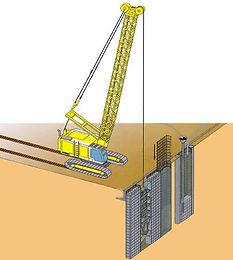 Стена в грунте, устройство стены в грунте, ограждение котлована методом стена в грунте, mosspecstroy com
