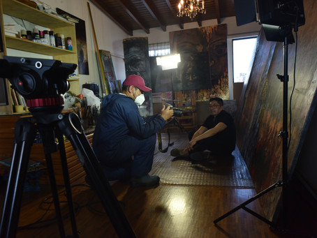 Discover the making of the video interview of some ecuatorian artists. (first part)