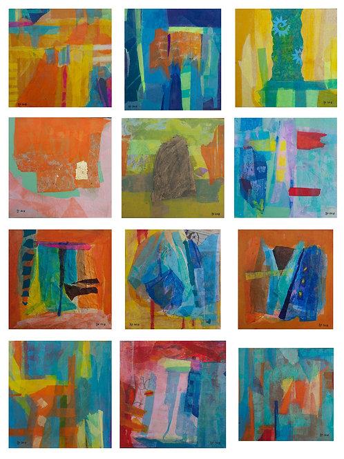"""""""Serie de Obra Sinfonia de colores""""(12"""