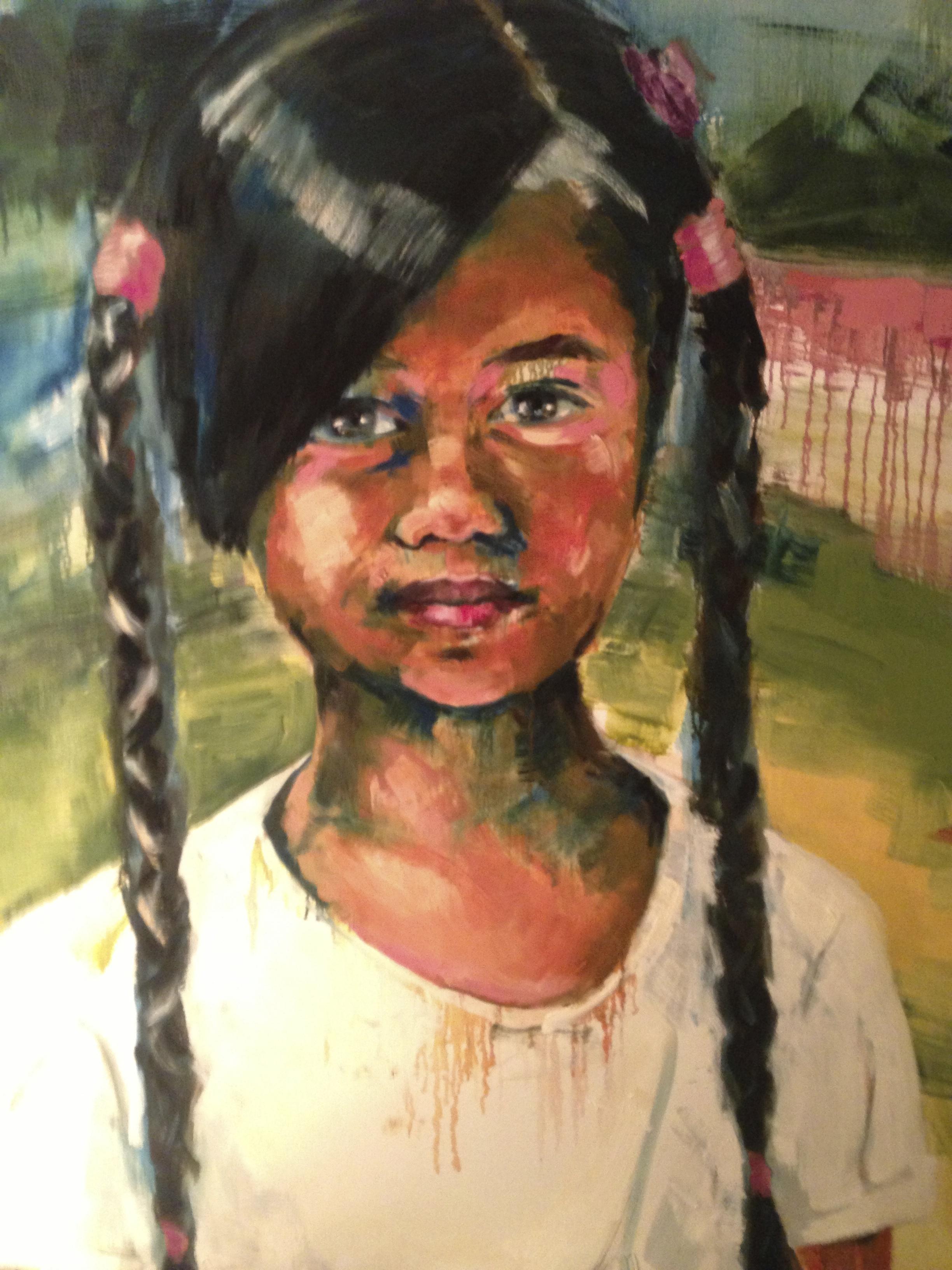 Bali girl, 100-100cm