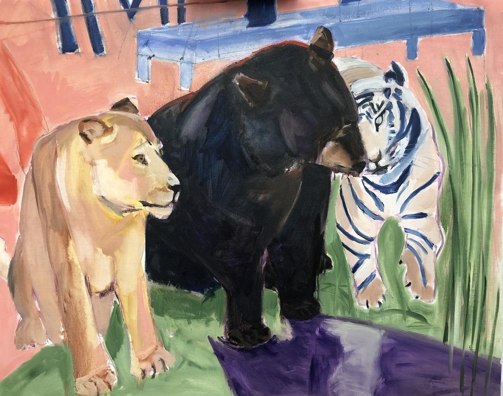 Leeuw,beer ,tijger vriendschap