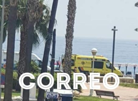Urgente: Fallece un hombre de unos 70 años en la playa de levante de Torre del Mar
