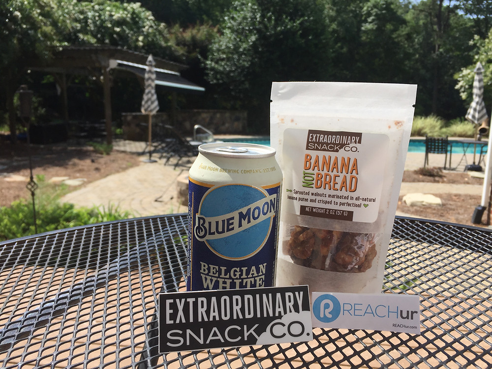 reachur, extraordinary snack co, local influencers, raleigh local influencers, banana not bread, blue moon