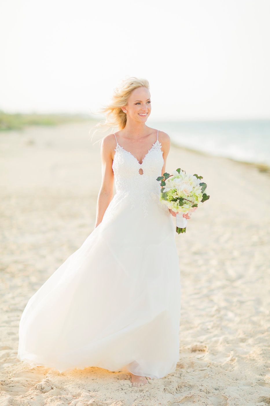 Beautiful Aline Beach Wedding Dress