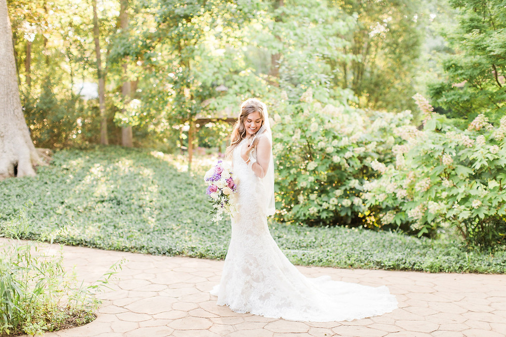 fit and flare lace wedding gown