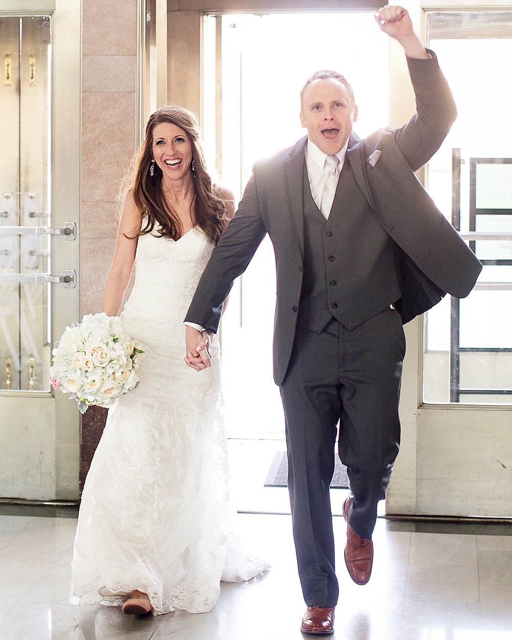 bride and groom breakfast club