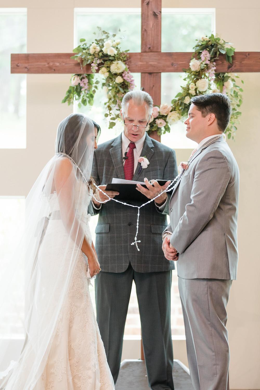 christian wedding with cross