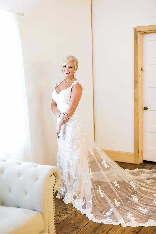 dramatic train wedding dress
