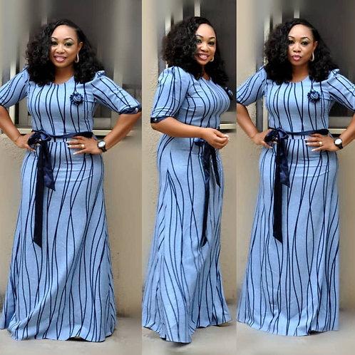 Ajar Blue Long Dress